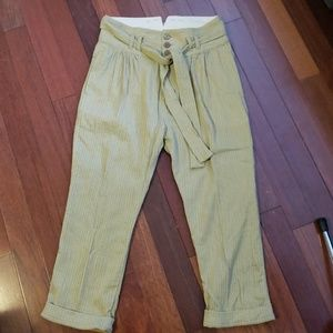 Free People Cropped Pants Size 8